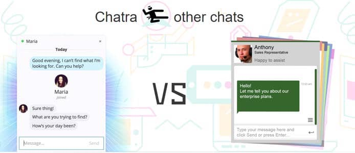 Chatra versus traditional chat software