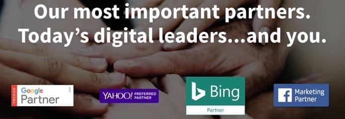 Screenshot of Hibu's partnership badges