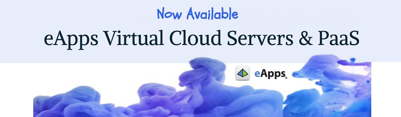 Banner advertising eApps' virtual cloud servers and PaaS
