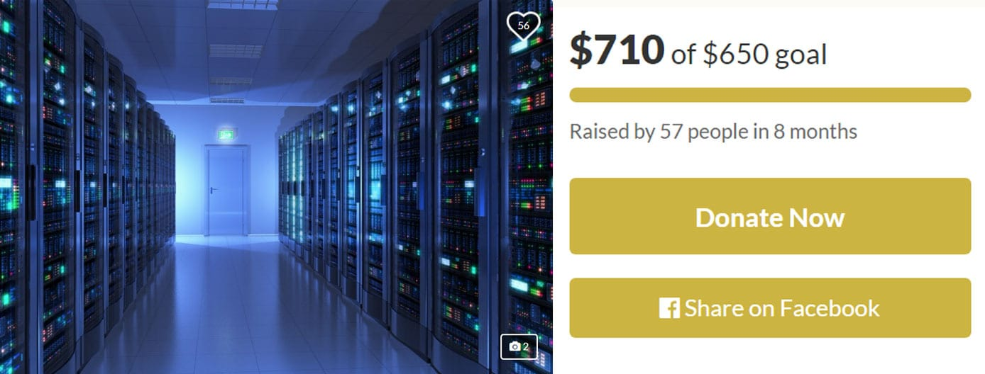 HelioHost's first GoFundMe campaign