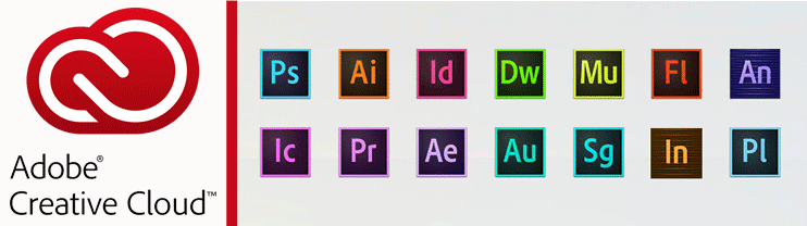 Screenshot of Adobe Creative Cloud apps