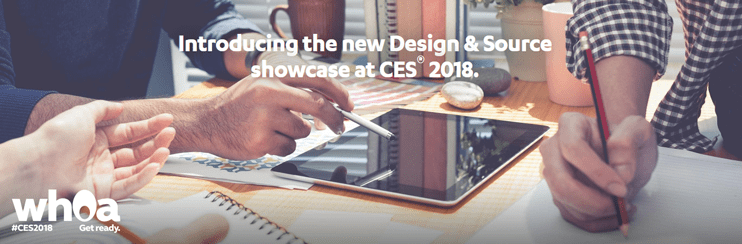 Screenshot of CES 2018 Design & Source teaser