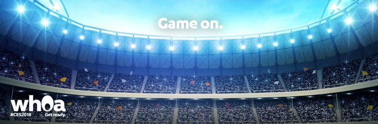 Screenshot of CES 2018 Sports Zone teaser