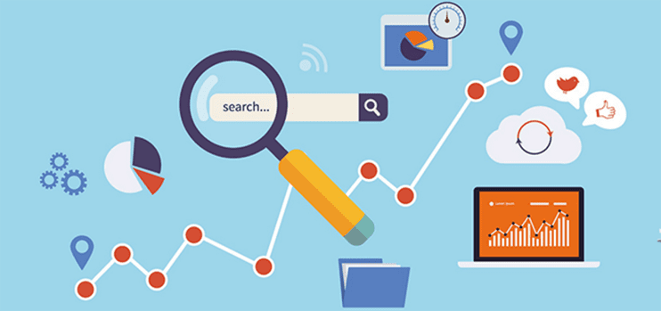 Conceptual depiction of measuring search results