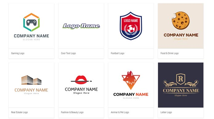 Screen shot of DesignEvo logo templates