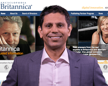 Photo of Britannica CEO Karthik Krishnan