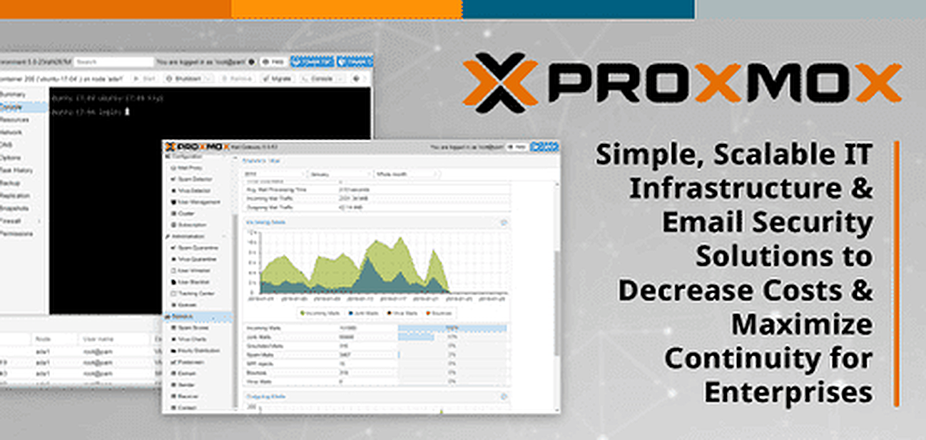 Proxmox: Simple, Scalable IT Infrastructure & Email Security Solutions to Decrease Costs & Maximize Continuity for Enterprises