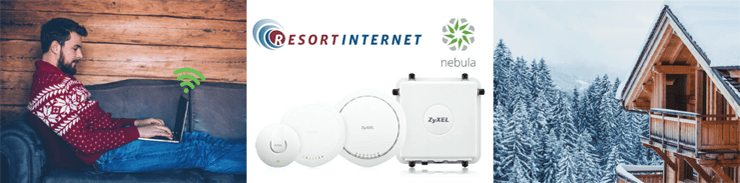 Collage of Resort Internet solutions from Zyxel