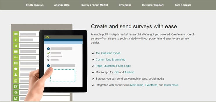 SurveyMonkey website