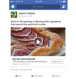 Screenshot of a Dynamic Facebook Ad