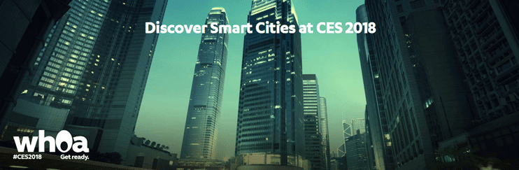 Screenshot of CES 2018 smart cities teaser