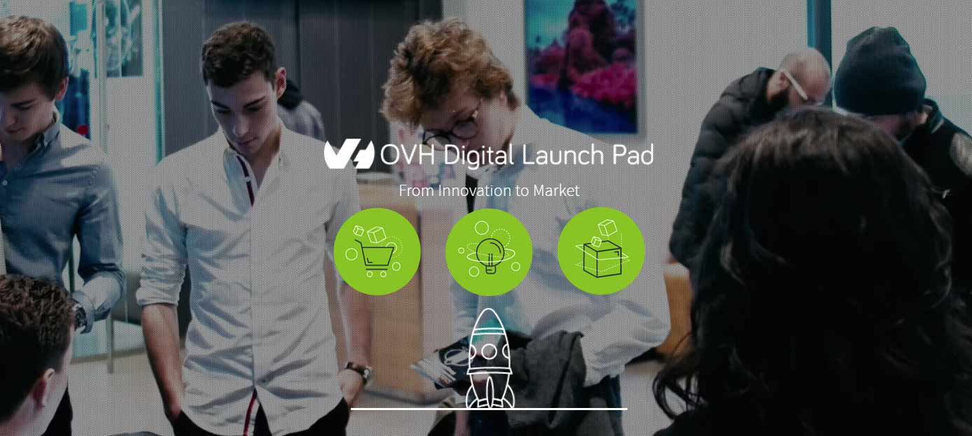 Screenshot of Digital Launch Pad page on OVH website
