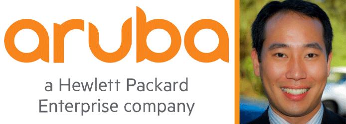 Collage of Aruba logo and photo of Alan Ni, Director of Vertical Marketing for Aruba
