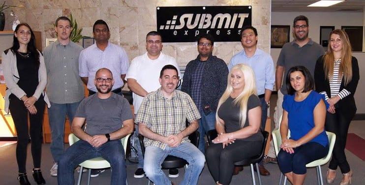 Photo of the Submit Express team