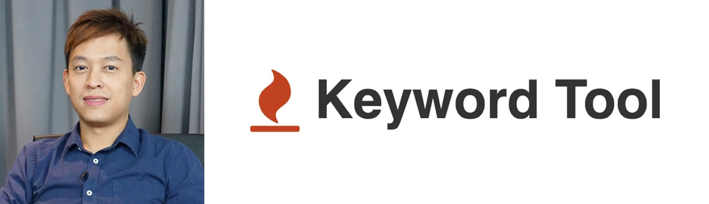 Khai Yong, Head of Growth at Keyword Tool, and company logo