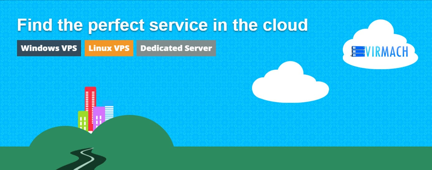 Graphic depicting VirMach cloud services