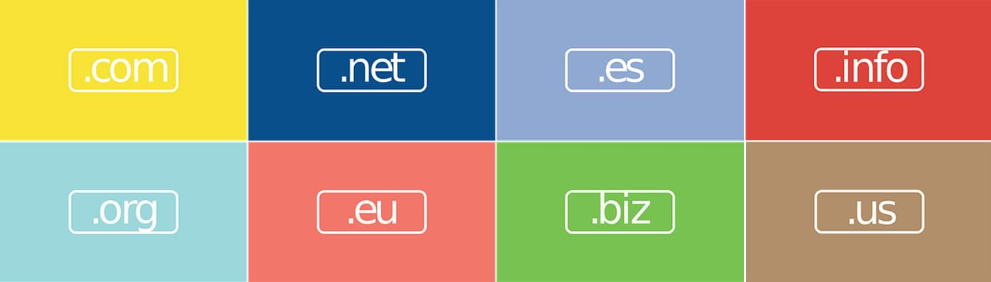Collection of top-level domain extensions