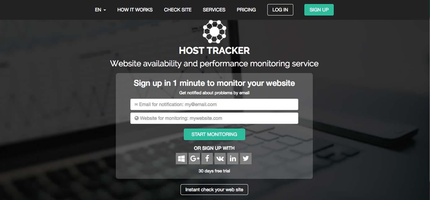 Screenshot of Host Tracker