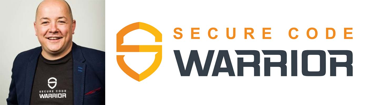 Image of Pieter Danhieux with the Secure Code Warrior logo