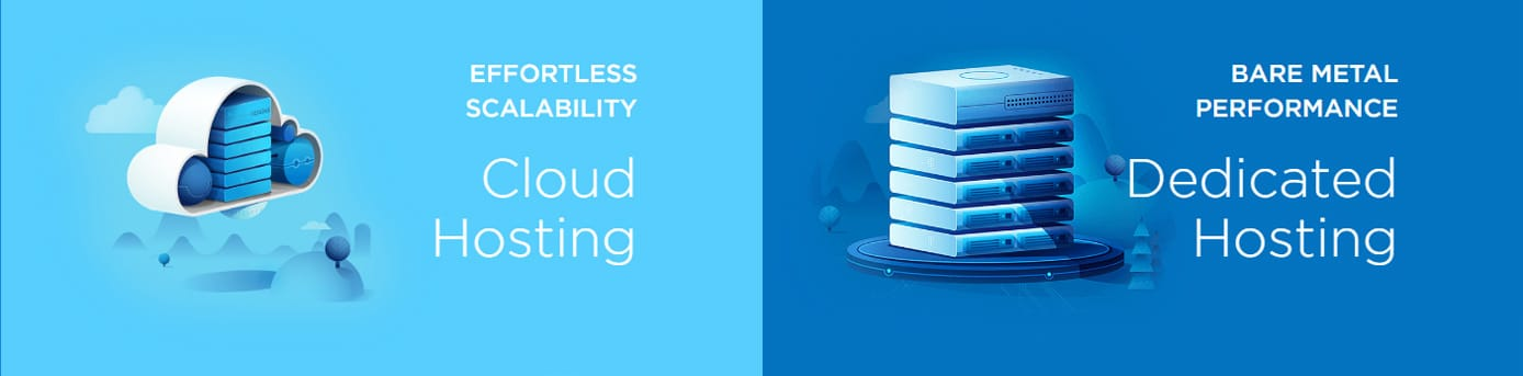 Depiction of cloud and dedicated solutions