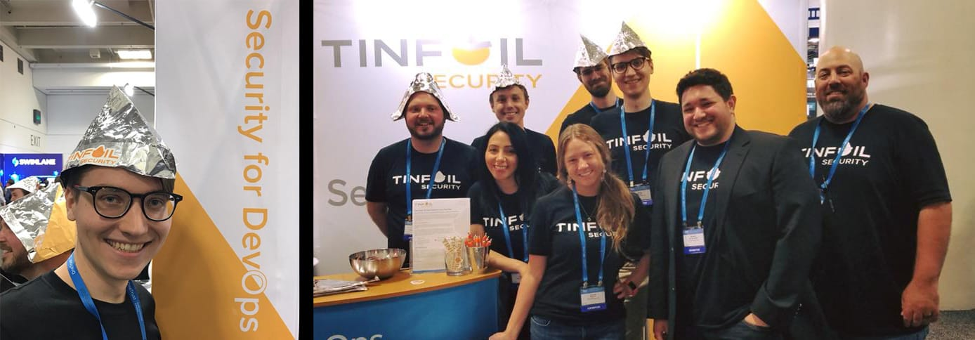 Tinfoil Security team members at a conference