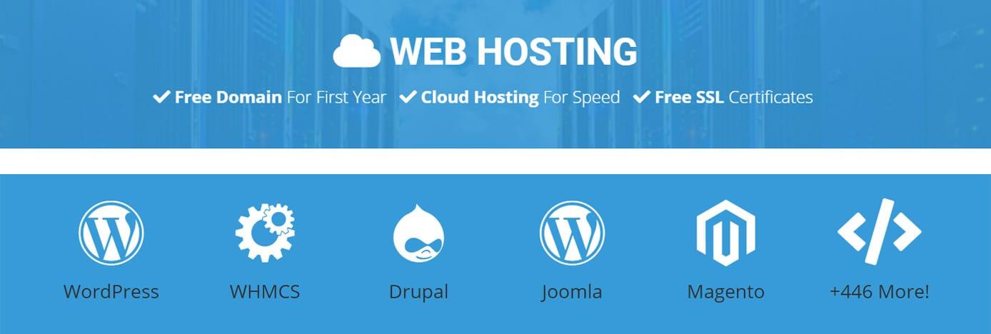 Screenshot of NameHero web hosting advantages