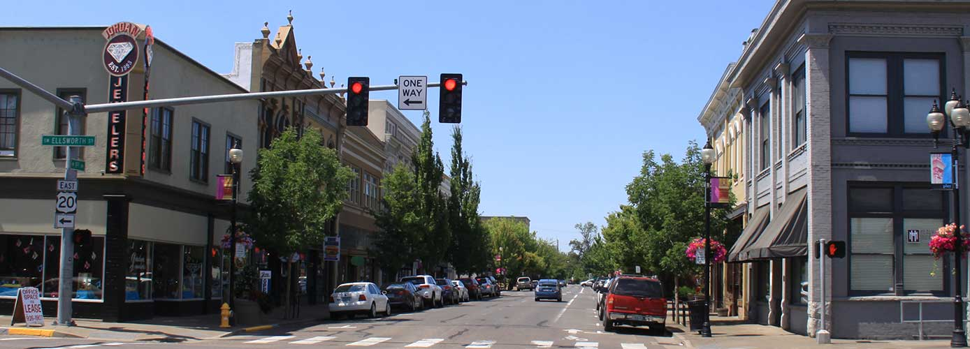 Image of downtown Albany, Oregon