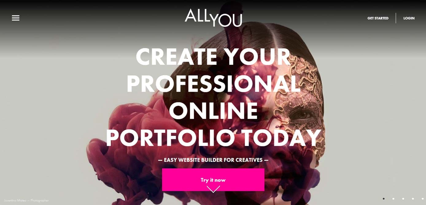 Screenshot of AllYou website