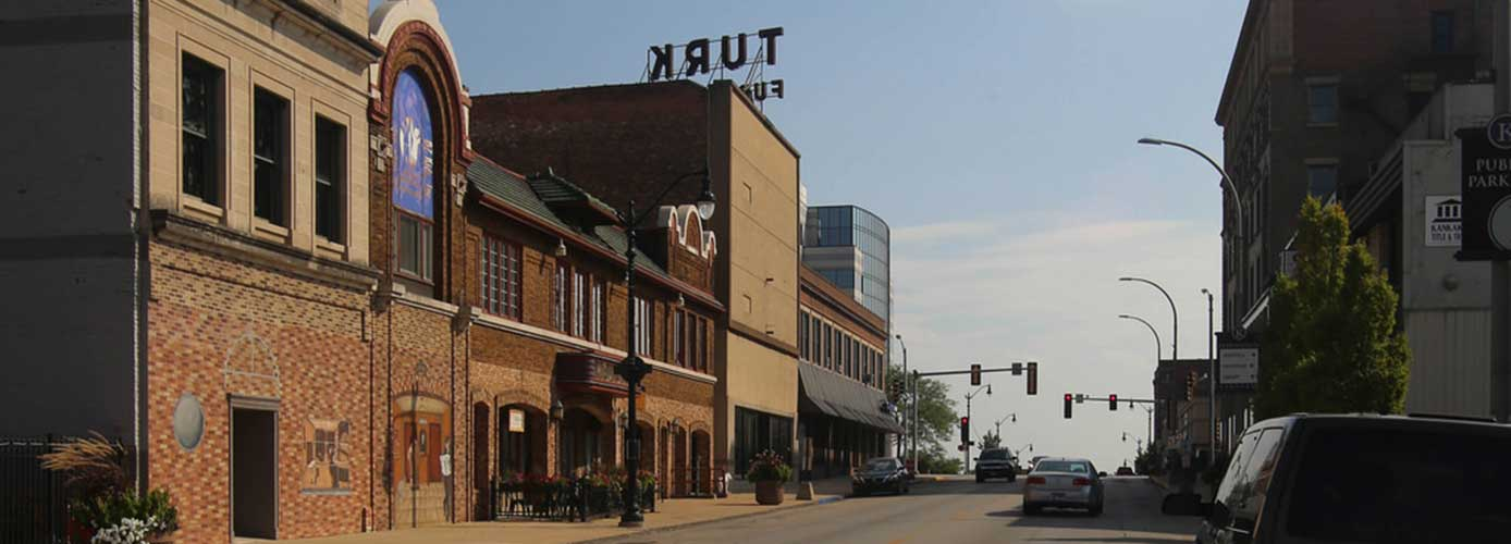Image of downtown Kankakee, Illinois