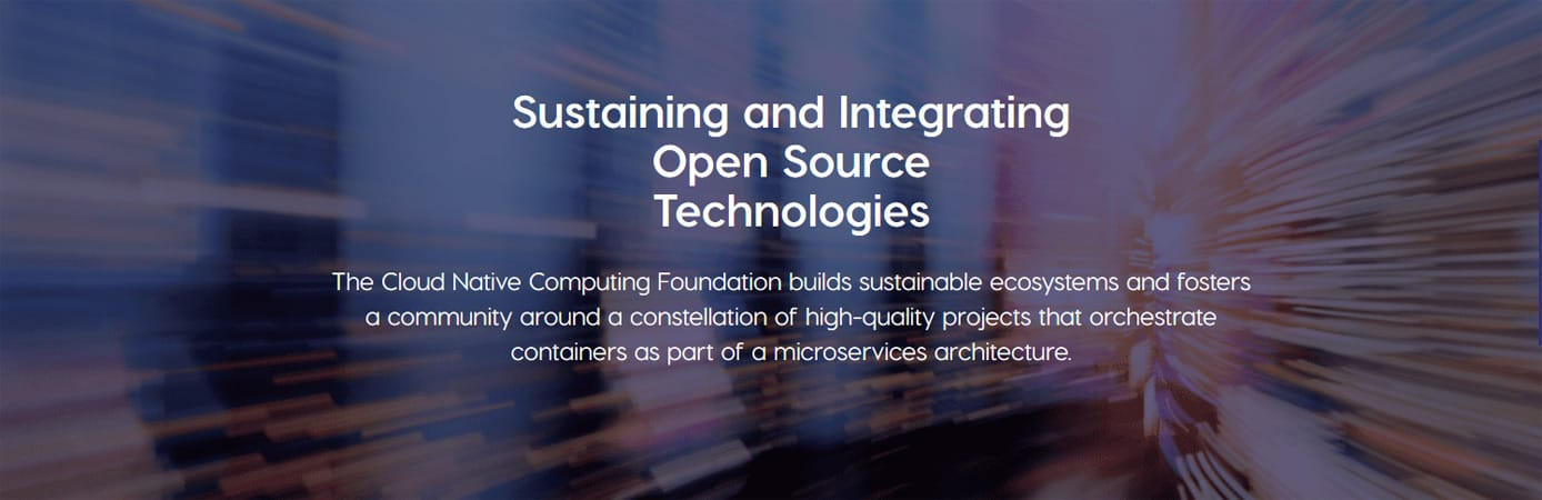 "Banner reading ""Sustaining and Integrating Open Source Technologies"""