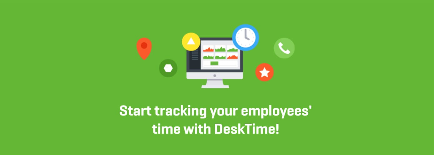 Start tracking your employees' time with DeskTime