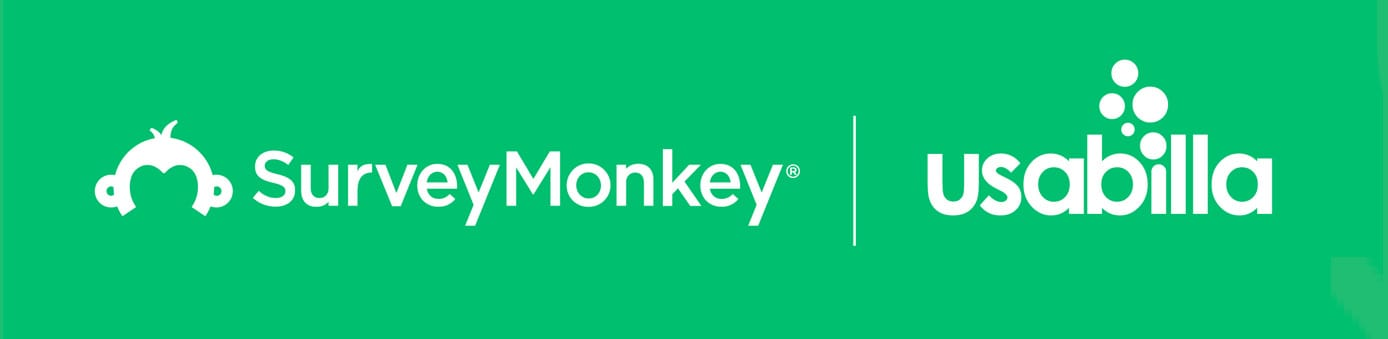 SurveyMonkey and Usabilla logos