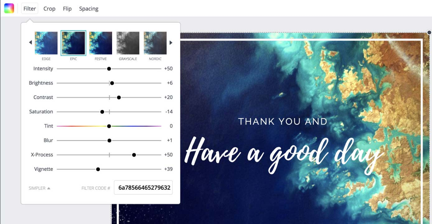 Screenshot of Canva graphic design tools