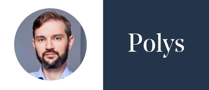 Roman Alyoshkin, Head of Product, and Polys logo