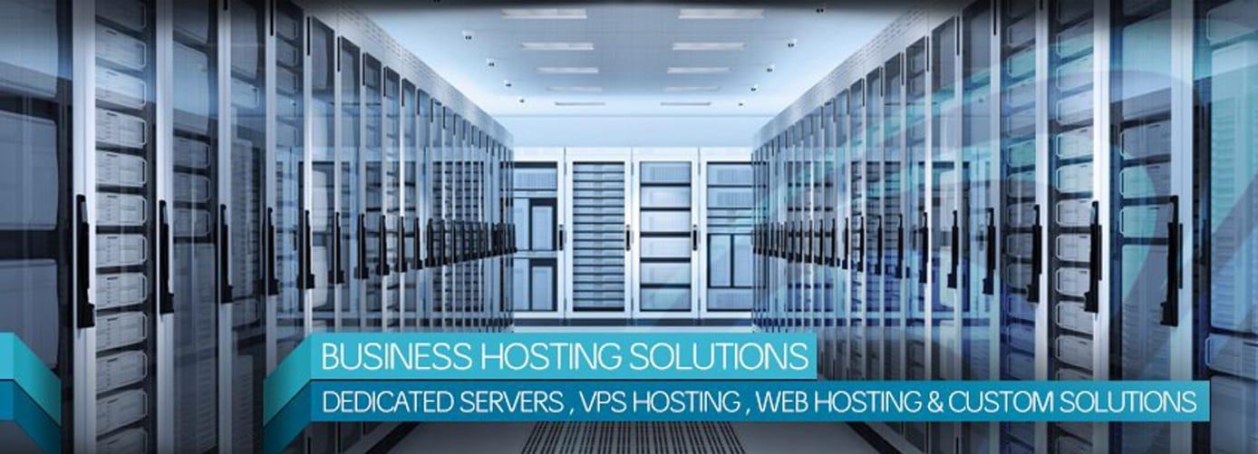 Business hosting solutions: Dedicated servers, VPS hosting, web hosting and custom solutions