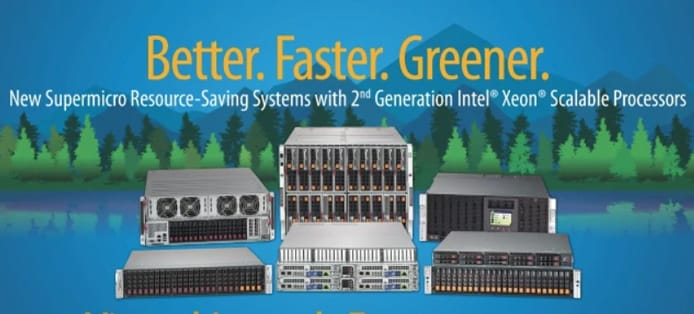 Screenshot of Supermicro homepage banner