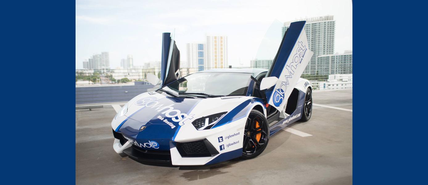 The Glowhost Lamborghini