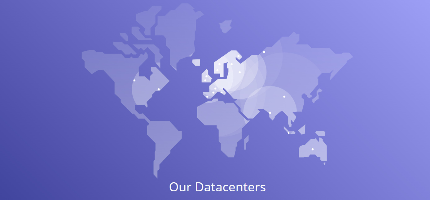 Screenshot of Hostdens global datacenter footprint