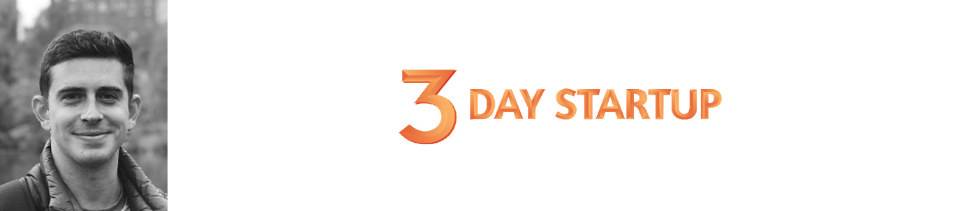 Nick Chagin, Program Manager, and 3 Day Startup logo