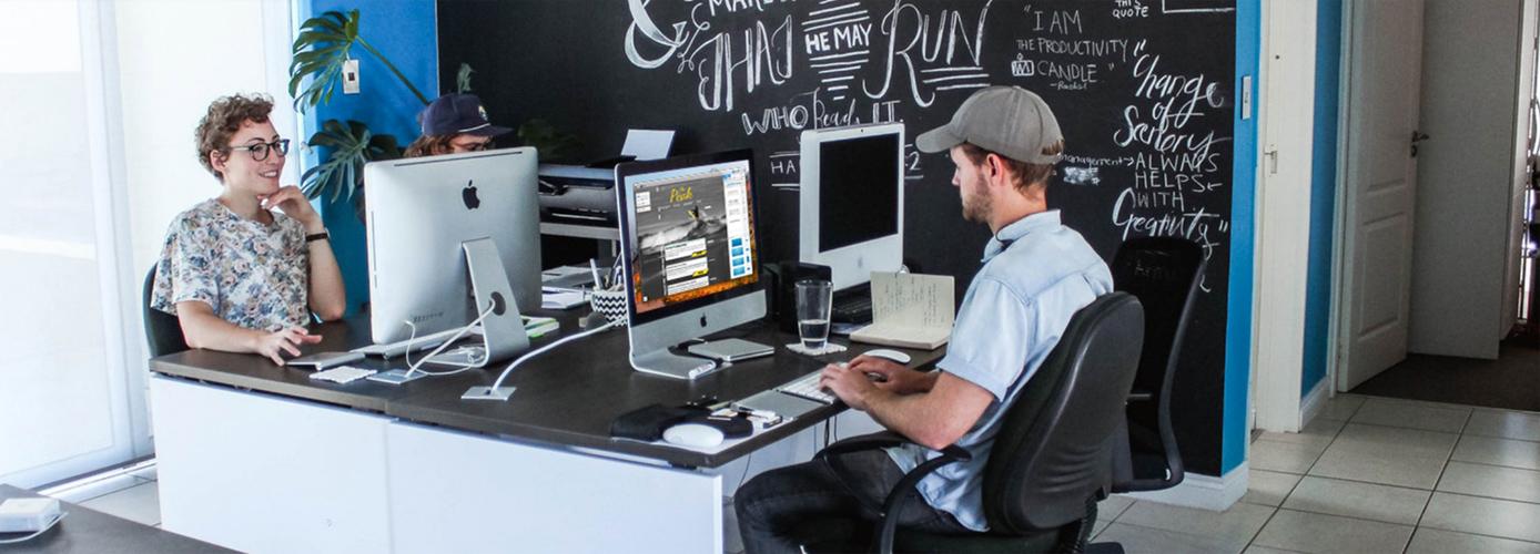 A marketing team using Mail Designer 365
