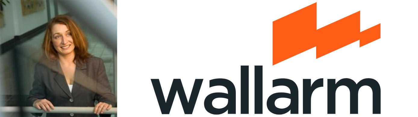 Image of CMO Renata Budko with the Wallarm logo