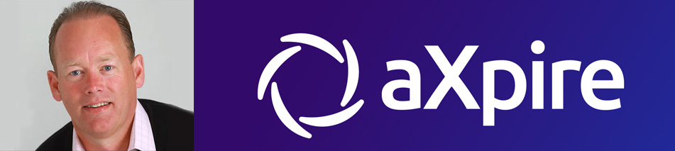 Gary R. Markham, CEO of aXpire, and logo