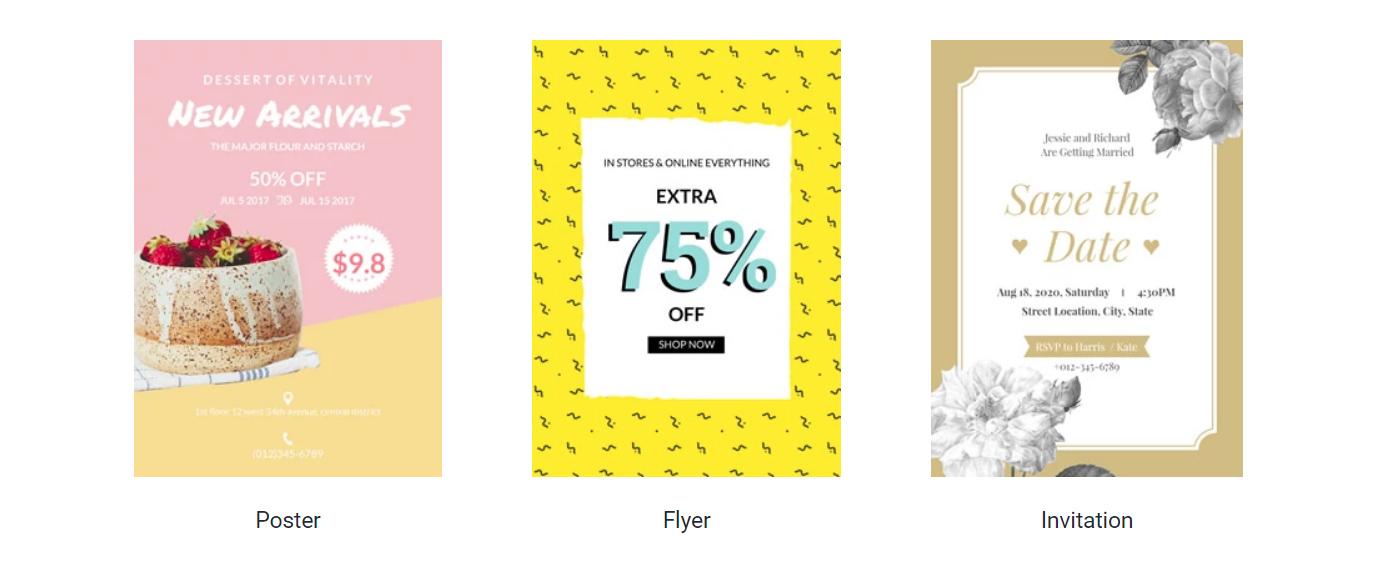 Examples of DesignCap templates