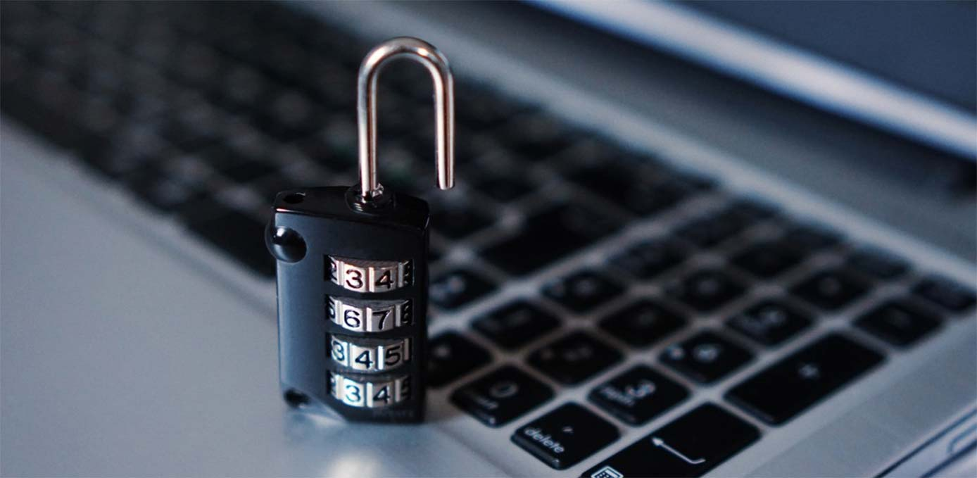 Image of a padlock on a keyboard