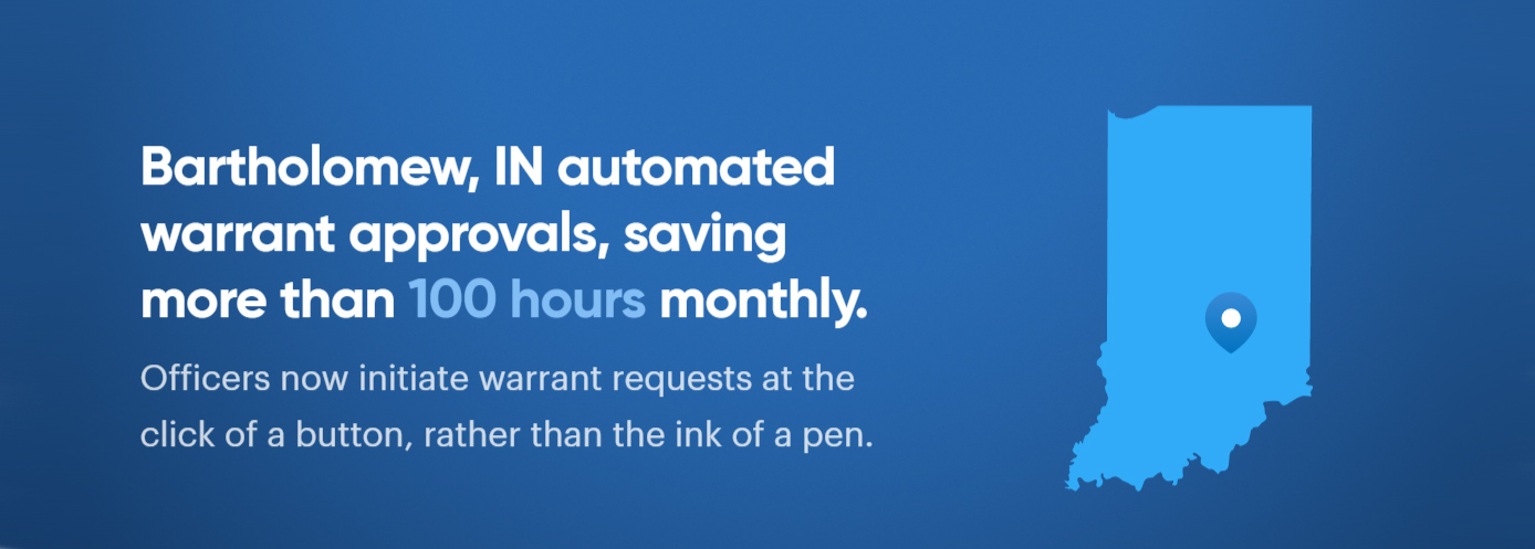 Bartholomew, IN, automated warrant approvals