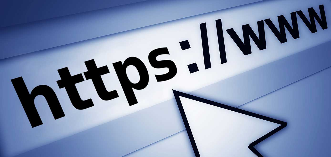 Illustration of a domain name in a web browser